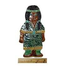 Load image into Gallery viewer, WATCH Resources Art Guild - Ceramic Arts Handmade Clay Crafts 8-inch x 4-inch Glazed Girl by Lisa Uptain
