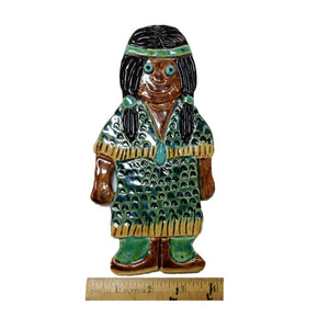 WATCH Resources Art Guild - Ceramic Arts Handmade Clay Crafts 8-inch x 4-inch Glazed Girl by Lisa Uptain