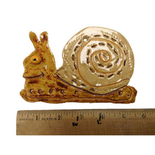 Load image into Gallery viewer, WATCH Resources Art Guild - Ceramic Arts Handmade Clay Crafts Fresh Fish 3.5-inch x 5.5-inch Glazed Sea Snail by Piper Roberson