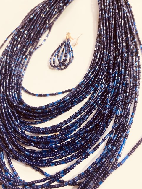 #08 - Multi Strands of Tiny Beads Necklace & Earrings