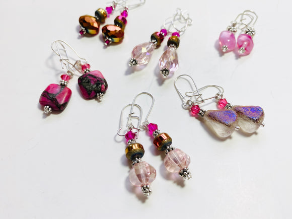 "24 - The ""Pretty In Pink"" Collection Earrings"