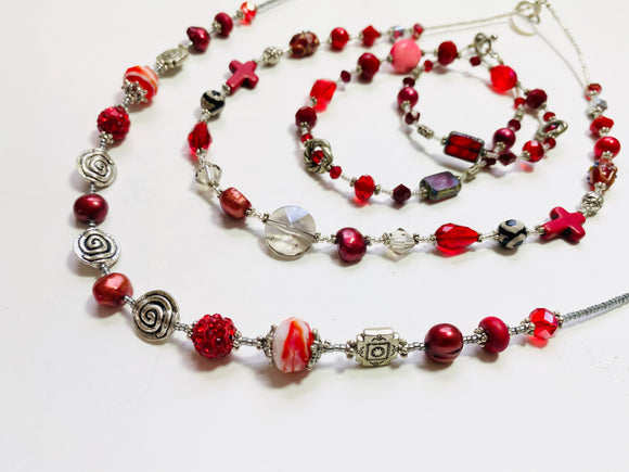 31 - The Rebellious Reds Collection Necklace
