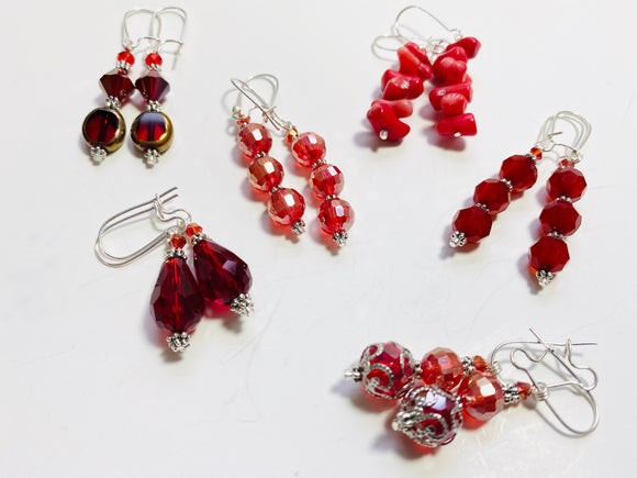 33 - The Rebellious Reds Collection Earrings