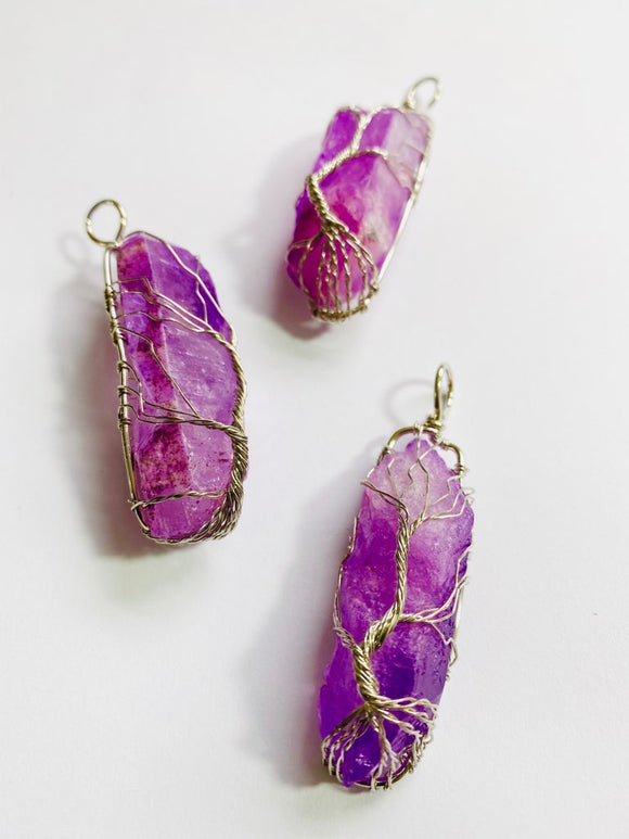 #03 - Amethyst Wire-Wrapped Crystal