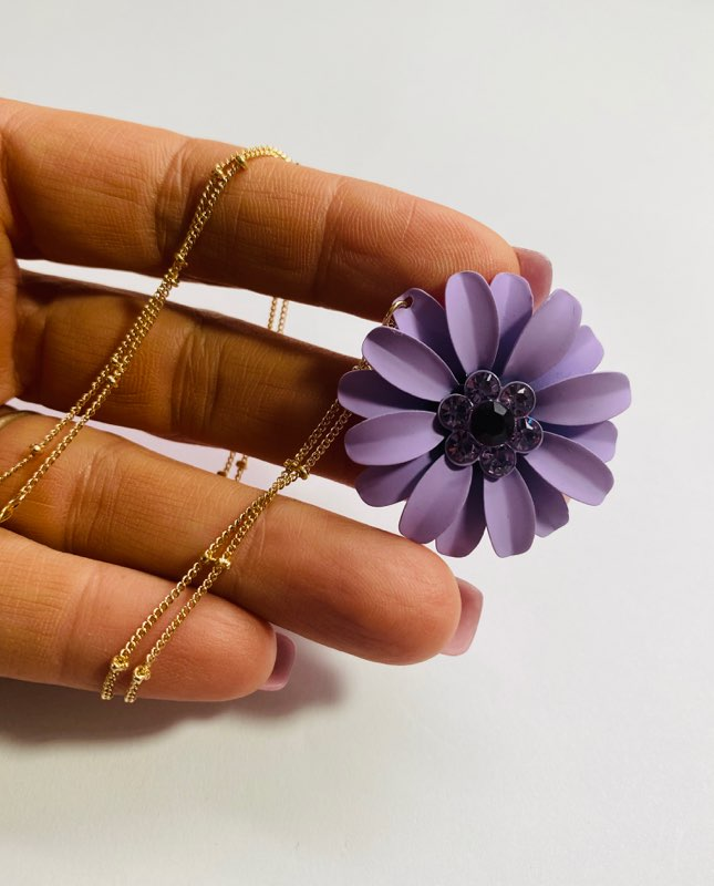 #12 - Purple Flower Necklace
