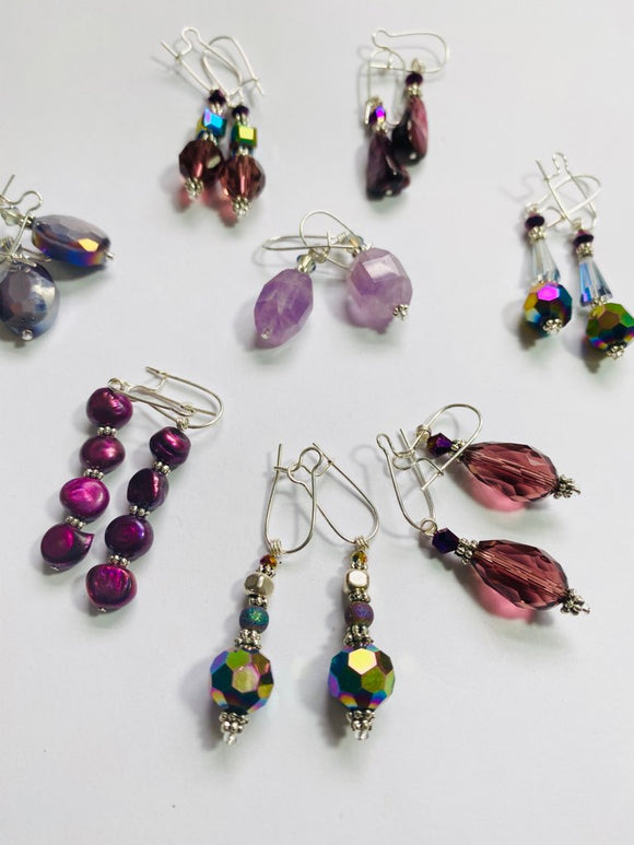 #16 -  Classic Purple Earring Collection Artist Choice!