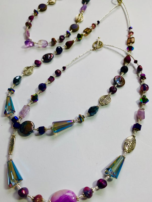 #17 - Classic Single Strand Purple Necklace Collection - Short Versions - Artist Choice