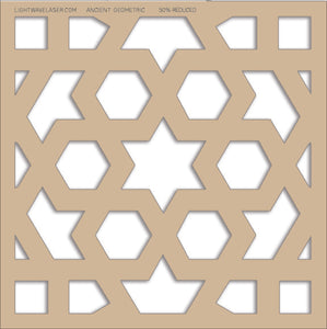 Lightwave Laser Ancient Geometric Pattern Sample
