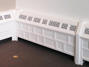 Basketweave Laser Cut Panels - Radiator Cover Application