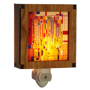 Frank Lloyd Wright Night Light - Saguaro Forms Color