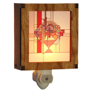 Frank Lloyd Wright Night Light - May Basket Color