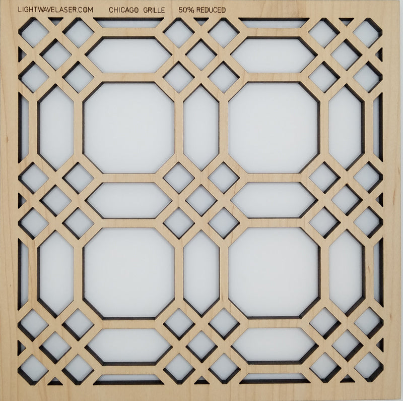 Lightwave Laser Chicago Grille Pattern Sample