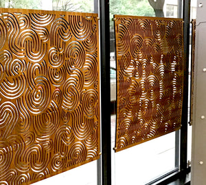 Deco Swirls Laser Cut Panels