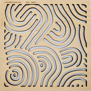 Lightwave Laser Deco Swirls Pattern Sample