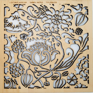 Lightwave Laser Garden Fantasy Pattern Sample