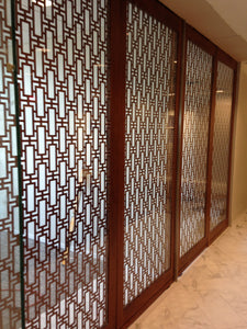 Rectangular Lattice Laser Cut Panels
