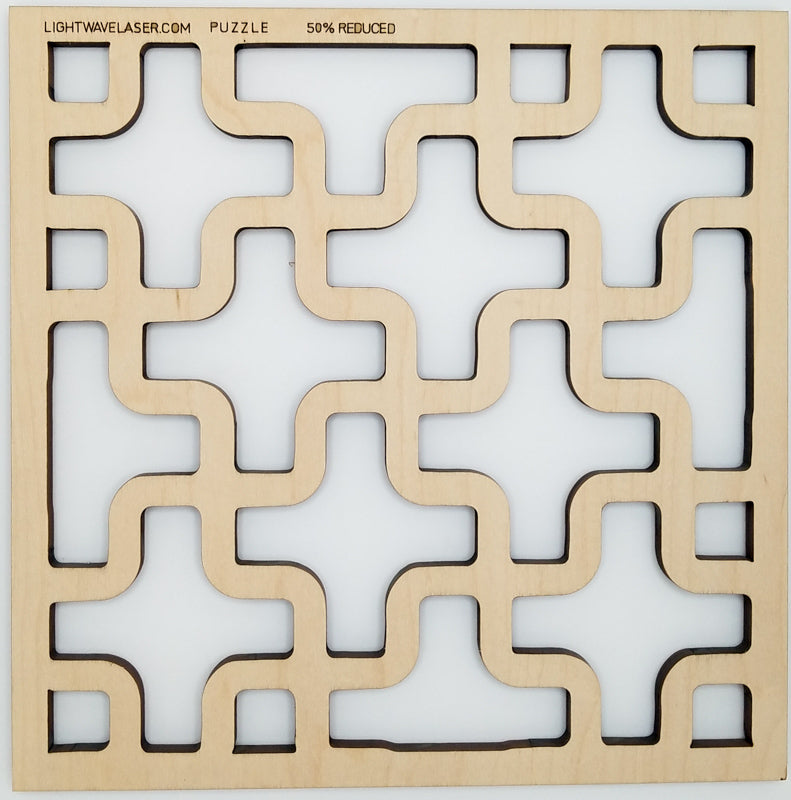 Lightwave Laser Puzzle Pattern Sample