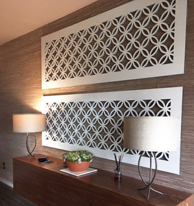 Japanese Circles Thick Laser Cut Panels - Decorative Application