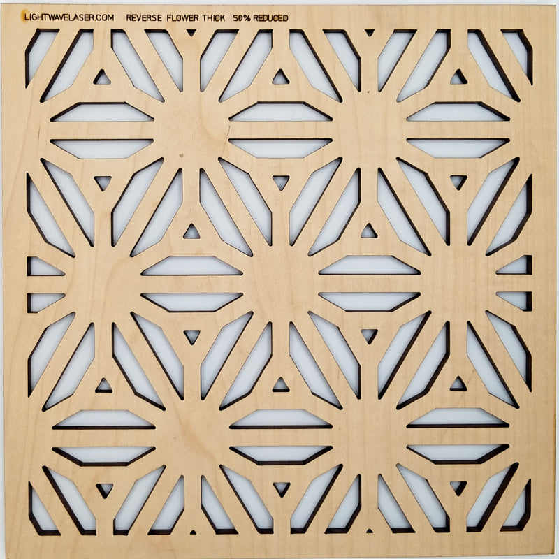 Lightwave Laser Reverse Flower Thick Pattern Sample