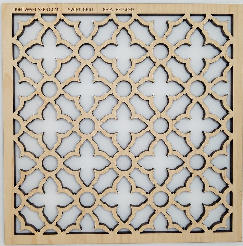 Lightwave Laser Swift Grille Pattern Sample