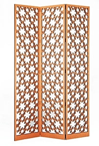 Woven Flowers Laser Cut Panels - Floor Screen Application