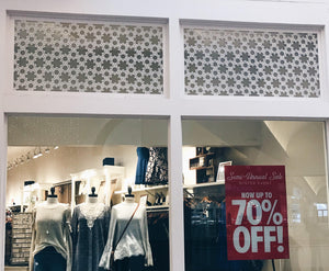 Woven Flowers Laser Cut Panels - Window Application
