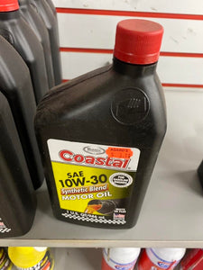 Coastal SAE 10W-30 Synthetic Blend Motor Oil