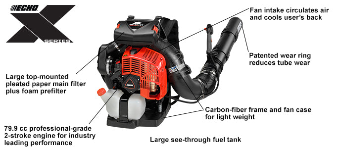 ECH PB-8010T The industry's most powerful backpack blower!
