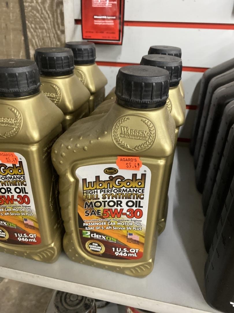 LubriGold High Performance Full Synthetic Motor Oil SAE 5W-30