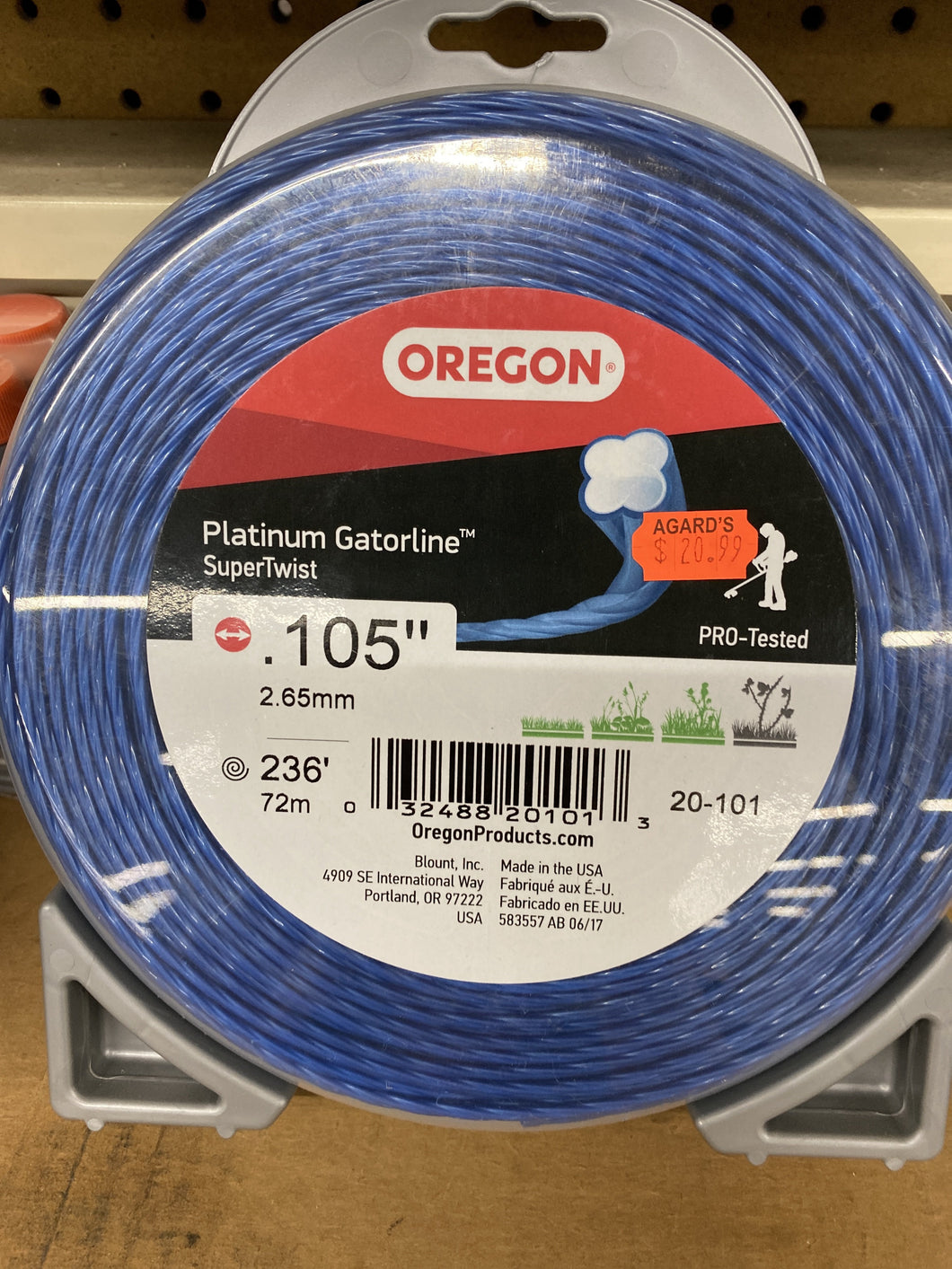 Oregon Platinum Gatorline Supertwist .105""