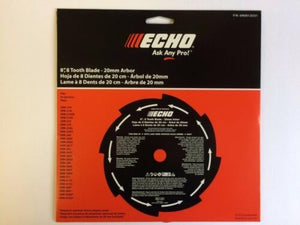 "ECHO Brushcutter 8"" Knife Grass Blade 8 Tooth 20MM Arbor 69600120331"