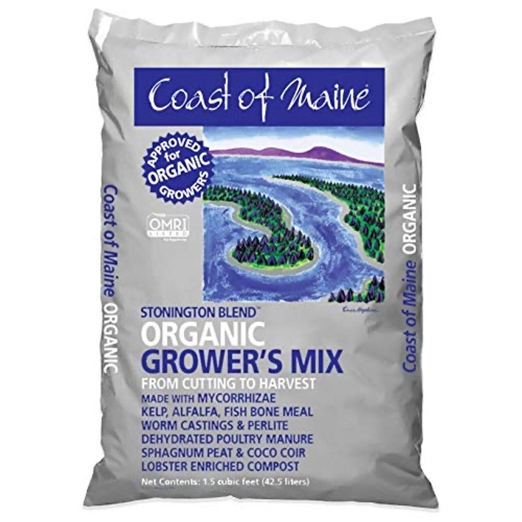Coast of Maine-Platinum Grower's Mix, Super Soil, Stonington Blend 1.5 cf