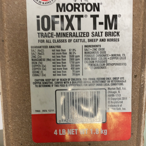 Morton IOFIXT T-M Trace Mineralized Salt Bricks