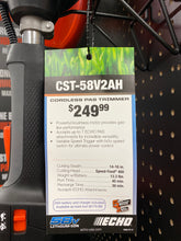 Load image into Gallery viewer, ECH CST-58V 2AH - 58V PAS Cordless String Trimmer w/ 2Ah Battery and Charger