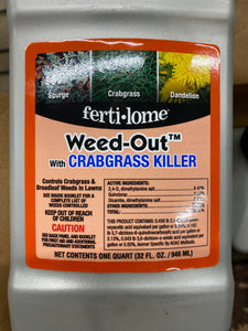 Weed-Out with Crabgrass Killer