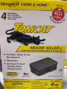 TOMCAT MOUSE KILLER II REFILLABLE BAIT STATION