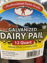 Load image into Gallery viewer, Galvanized Dairy Pail
