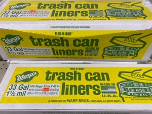 Trash Can Liners (100 33 Gal Bags)