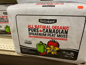 Ferti-Lome All Natural Organic Pure Canadian Sphagnum Peat Moss