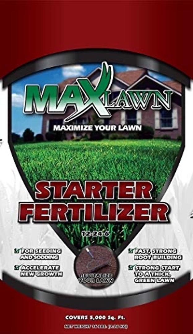 MaxLawn 12-24-6 Starter Fertilizer/Lawn Fertilizer for Newly Planted Grass