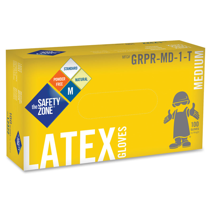 Safety Zone White Latex Gloves Sizes M or L
