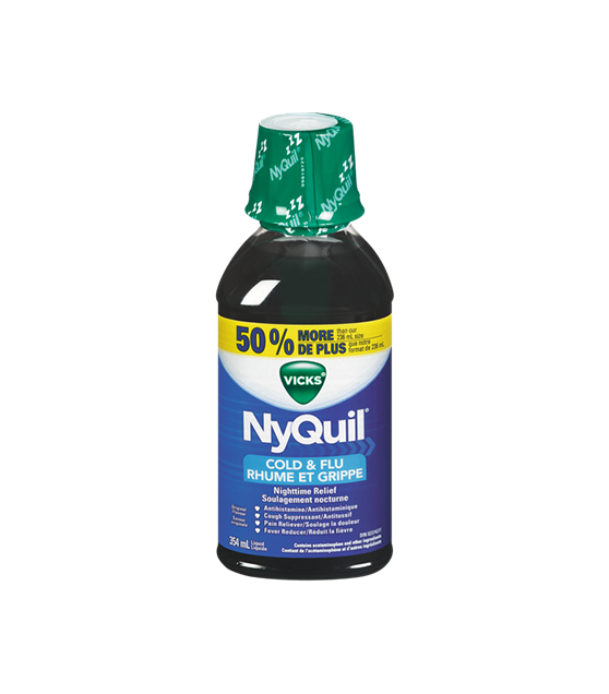 Vicks - Nyquil Cold & Flu Relief Liquid - 8oz (237ml)