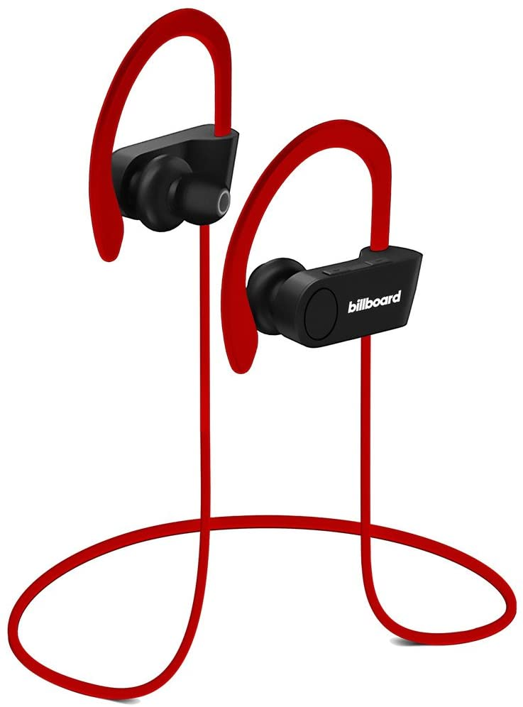 Billboard BB897 Bluetooth Wireless Earbuds With Remote And Mic, Red