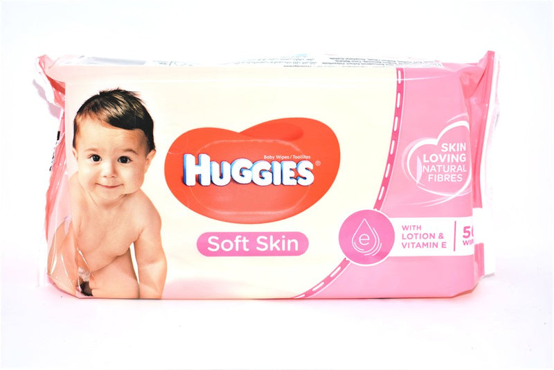 Huggies Baby Wipes Soft Skin 56 Wipes