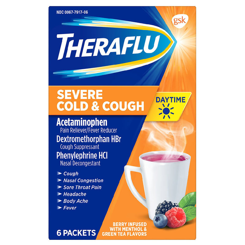 Theraflu - Day Severe Cold and Cough - 6 Packets