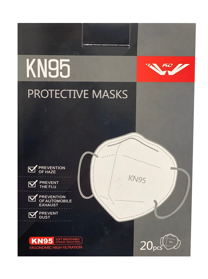 Face Mask KN95, Box of 20Pcs