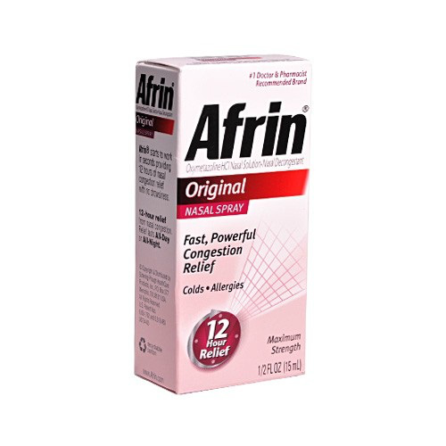 Afrin - Original Nasal Spray - 1/2oz (15ml)