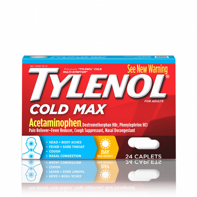 Tylenol Cold Max Daytime Caplets, 24 Ct