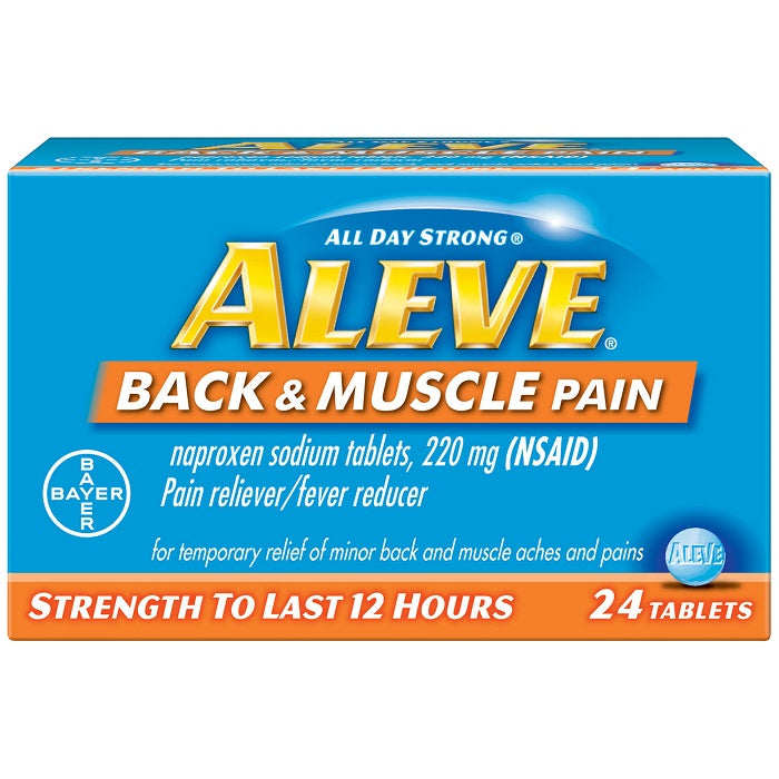 Aleve - Back & Muscle Pain - 24 Tablets