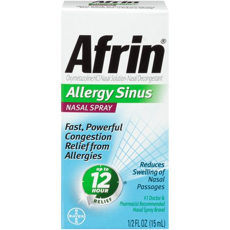Afrin - Allergy Sinus Nasal Spray 1/2oz (15ml)